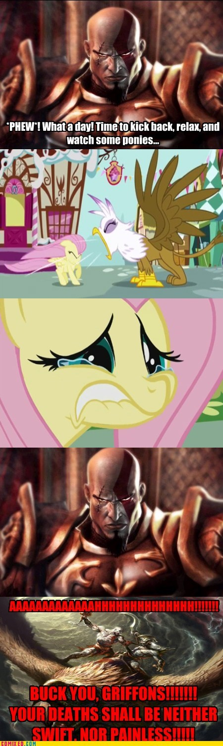 comic comics fluttershy gilda god of war kratos - 5649686272