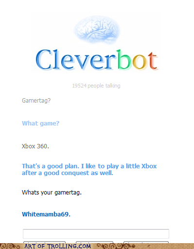 Cleverbot gamertag video games xbox 360 - 5649731072