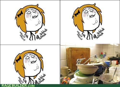 dirty dishes Rage Comics schlick - 5649851648