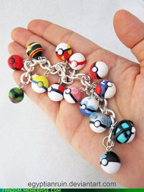 cute Fan Art Jewelry Pokeballs Pokémon - 5650053632