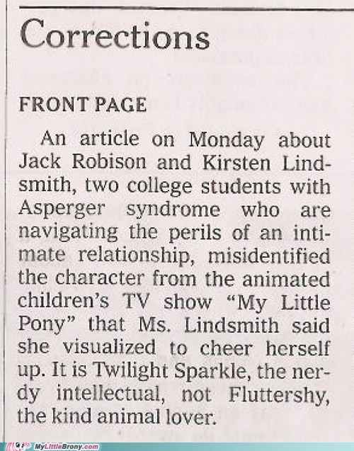 anime correction IRL new york times news twilight sparkle - 5650265600