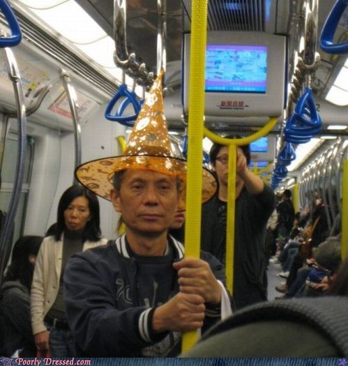 asians,Harry Potter,hats on the bus,wizard hats,yer a wizard harry