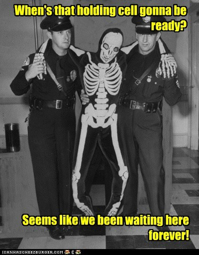 cops historic lols holding cell police skeleton under arrest what - 5650478080
