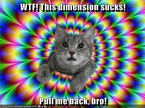 WTF! This dimension sucks! Pull me back, bro!