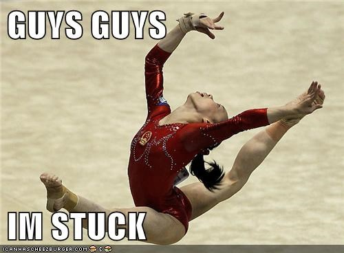 athlete,athletics,gymnast,gymnastic,gymnastics,stuck,Up Next in Sports