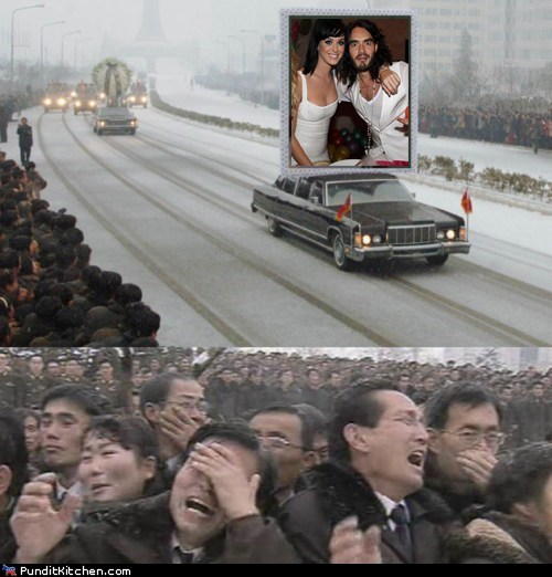 funeral,katy perry,Kim Jong-Il,North Korea,political pictures,Russell Brand