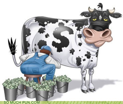 cash,cash cow,cow,double meaning,idiom,literalism