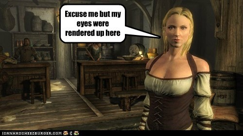excuse me eyes glitch rendered Skyrim up video games - 5650909952