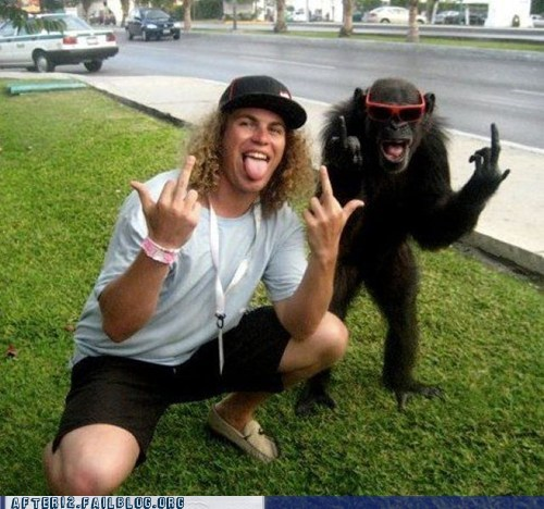 after 12 crunk critters flipping off g rated monkey not a single sunglasses - 5651148288