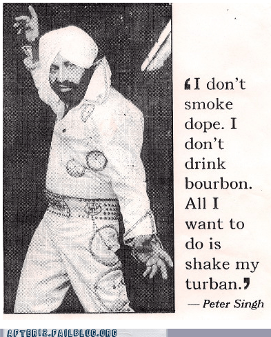 bourbon dope drinking drugs high peter singh turban - 5651400192