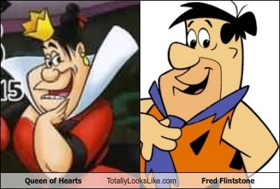 animation,fred flintstone,funny,queen of hearts,TLL