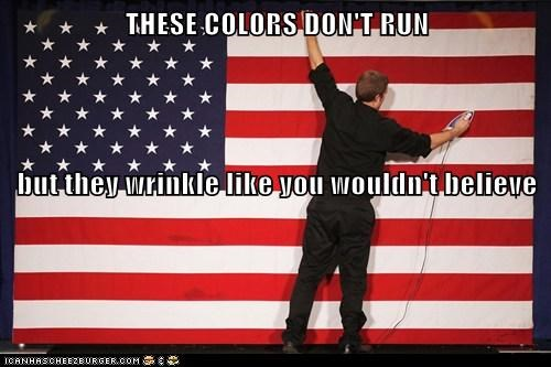 THESE COLORS DON'T RUN but they wrinkle like you wouldn't believe