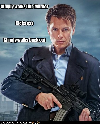 Captain Jack Harkness john barrowman kick ass mordor simply walk Torchwood - 5652380160