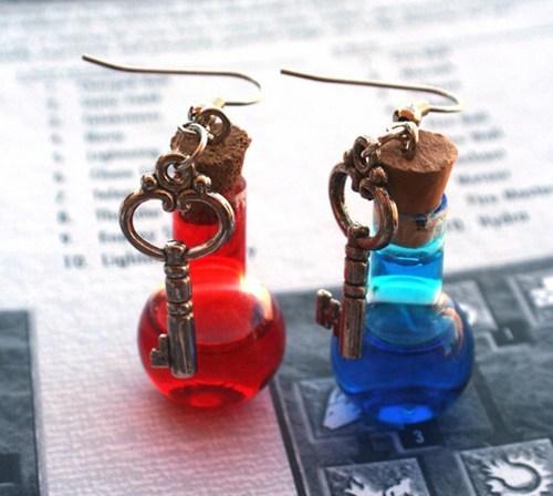 diablo diablo III earrings etsy merch potions video games - 5653038080