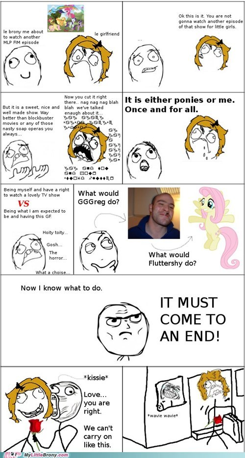 Bronies fluttershy my little pony rage comic relationship wave - 5653356032