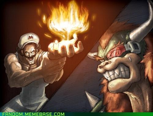 anime best of week crossover Dragon Ball Z Fan Art Super Mario bros video games - 5653402112