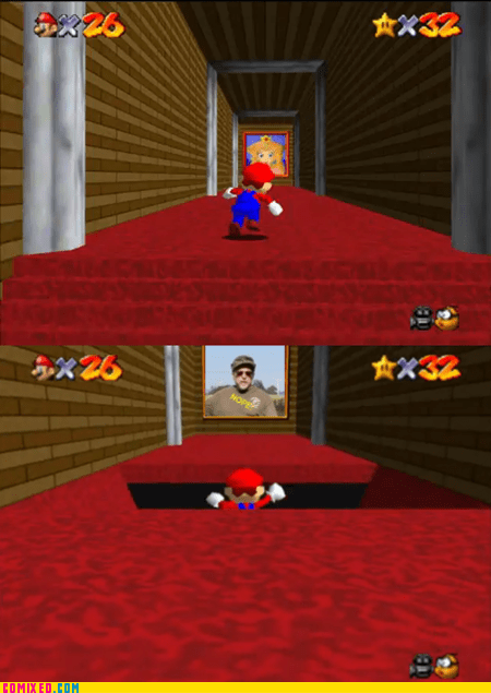 best of week,mario 64,meme,Memes,nope chuck testa,princess peach,video games