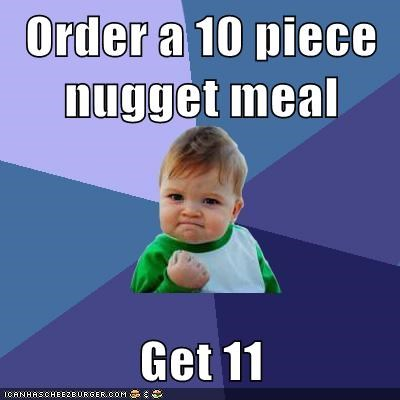 10 piece 11 food nugget success kid - 5653701888