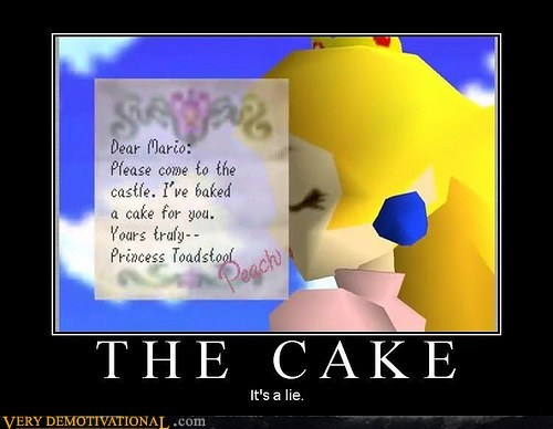 cake hilarious lie mario princess peach video games wtf - 5654001920