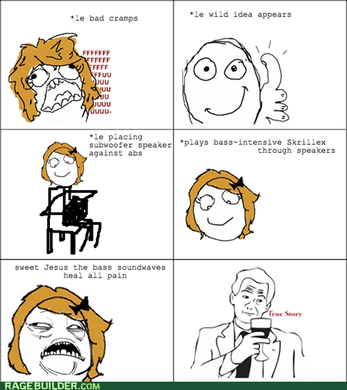 bass,cramps,lady times,Rage Comics