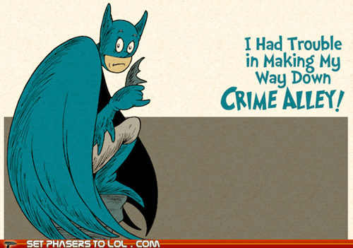 art,batman,bruce wayne,dr seuss,selena kyle,the joker,the riddler