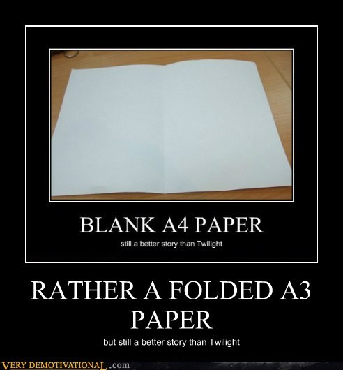 a3 blank hilarious paper twilight - 5654347776