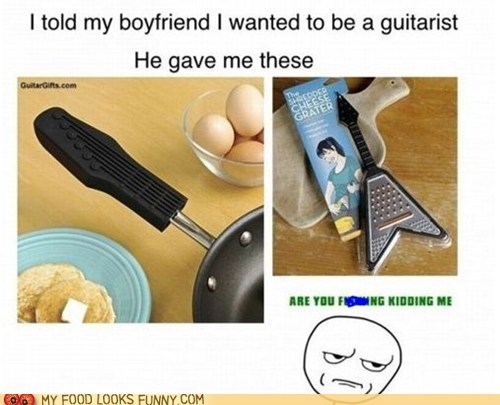 cheese grater,gift,guitar,kitchen,pan