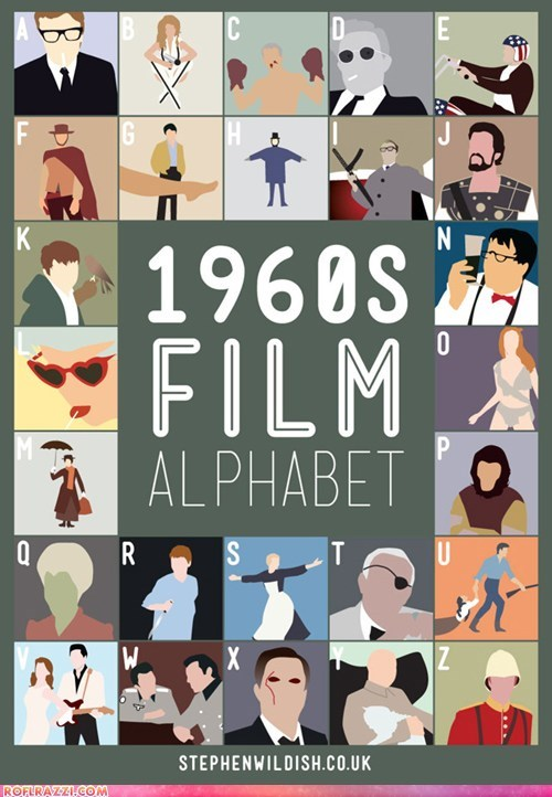 alphabet art cool film Movie poster - 5654519040