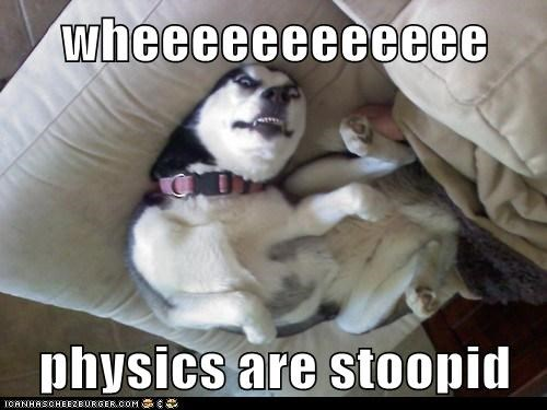 wheeeeeeeeeeee physics are stoopid