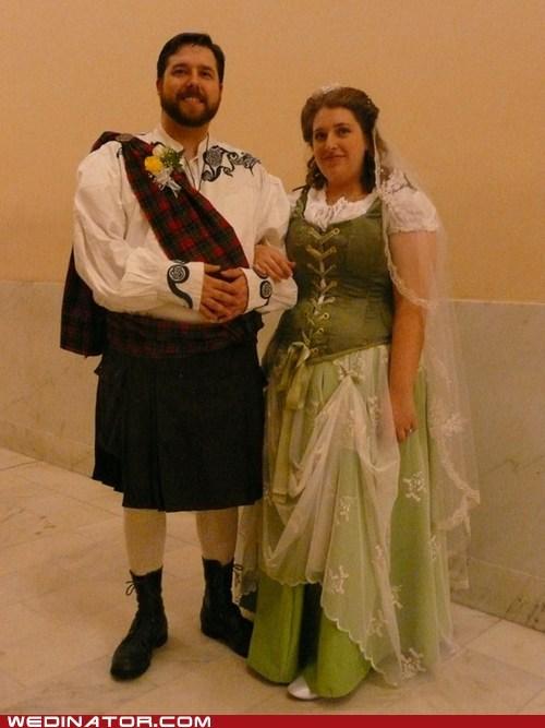 bride funny wedding photos groom kilt scotland scottish - 5654805504