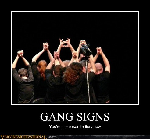 gang signs hilarious jim henson muppets - 5654828544