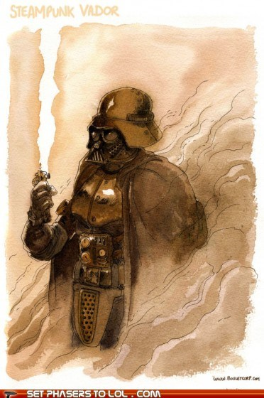 brass darth vader gears star wars steam Steampunk - 5655154176