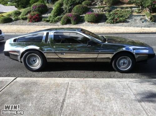 car DeLorean design mirror nerdgasm pretty colors - 5655271936