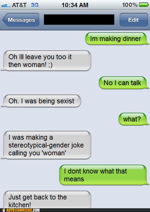 Misogyny sammich sandwich sexist - 5655275264
