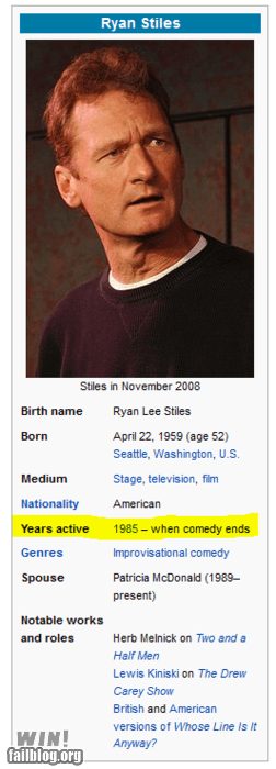 clever,comedy,edit,ryan stiles,time,wikipedia