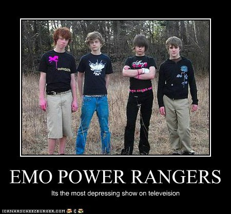 deoressing,emolulz,not as gay as twilight,power rangers,television