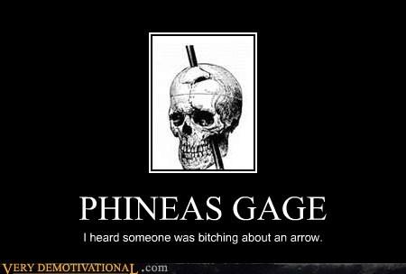 arrow head hilarious knee phineas gage skyirm spike - 5656427008