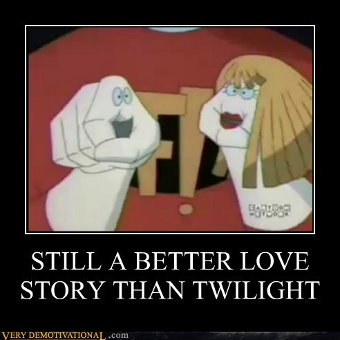 freakazoid,hilarious,love story,twilight
