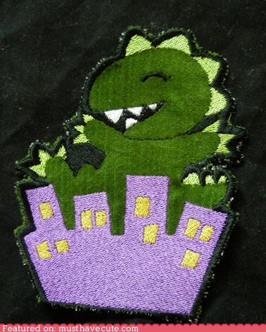 adorable,destruction,godzilla,monster,patch