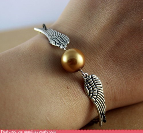 accessories,beads,bracelet,Harry Potter,Jewelry,snitch