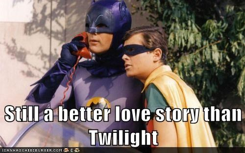 Adam West batman better love story than twilight bruce wayne burt ward love story robin - 5657198592