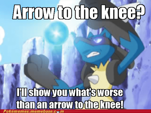 arrow to the knee aura sphere lucario meme Memes - 5657240320