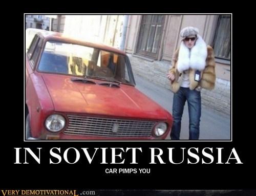 car,hilarious,pimp,Soviet Russia