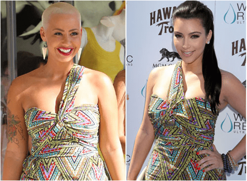 amber rose,Celebrity Beef,kanye west,kim kardashian,true reflection