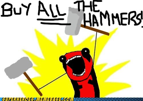 all the things deadpool hammer Super-Lols Thor - 5657809408