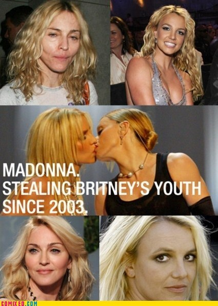 best of week britney spears celebutard Madonna The Kiss the truth youth