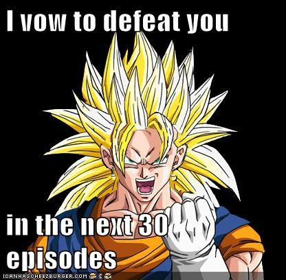 30,Dragon Ball Z,episodes,goku,Memes,takes forever