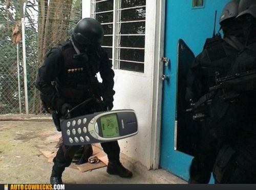 battering ram,indestructible nokia,nokia,swat team
