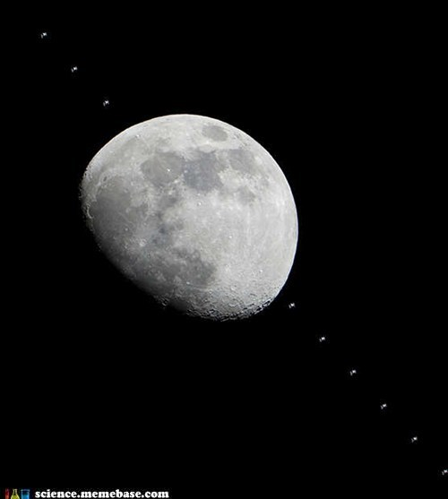 amazing,Astronomy,ISS,moon,photograph