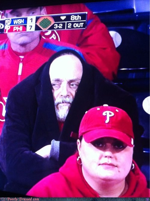 baseball cold Nationals pea coats phillie fans Phillies winter weird